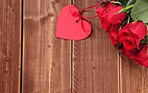 Hintergrundbilder Rose Valentinstag Herz Vorlage Grußkarte Bretter Blumen