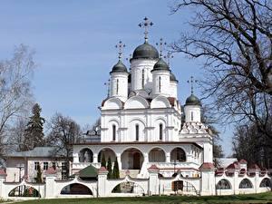 Fotos Russland Kirche Ast Kuppel Kreuz Moscow region, Church Of The Transfiguration, Large Binders Städte