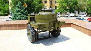Fotos Russland Wolgograd Museum Russische KP-42M Field Kitchen Heer