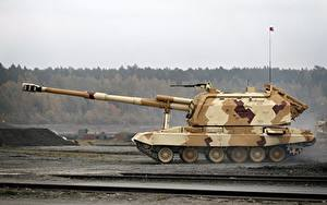 Bilder Selbstfahrlafette Russische Arms EXPO 2013 2S19 Msta-S Heer