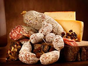 Hintergrundbilder Wurst Käse Pilze