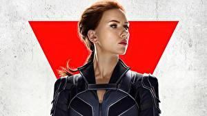Hintergrundbilder Scarlett Johansson Starren Black Widow Prominente Mädchens Film