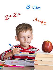 Hintergrundbilder Schule Äpfel Junge Kugelschreiber Kinder