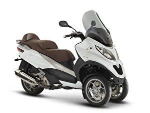 Desktop hintergrundbilder Motorroller Weißer hintergrund 2014-20 Piaggio MP3 LT 500 Business Motorräder