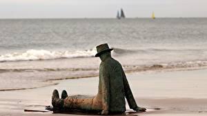 Hintergrundbilder Skulpturen Strände Der Hut Sitzt