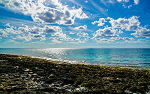 Papel de Parede Desktop Mar Costa Céu Nuvem Naturaleza