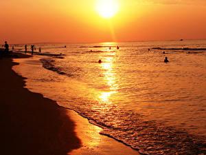 Fotos Meer Küste Sonne