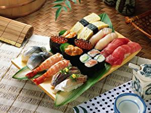 Hintergrundbilder Meeresfrüchte Sushi Caviar Lebensmittel