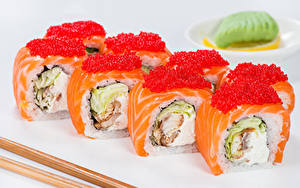 Hintergrundbilder Meeresfrüchte Sushi Kaviar Großansicht Lebensmittel