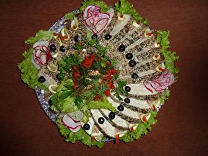 Hintergrundbilder Meeresfrüchte Gemüse Oliven Geschnittene Design Lebensmittel
