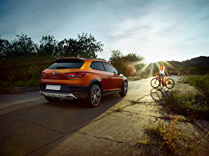Bilder Seat Hinten Orange 2015 Leon Cross Sport Concept