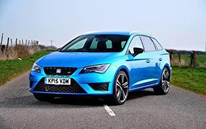 Pictures Seat Light Blue 2015 Leon ST Cupra 280 UK-spec