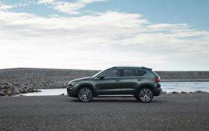 Hintergrundbilder Seat Crossover Graue Metallisch Seitlich Ateca Xperience, 2020 automobil