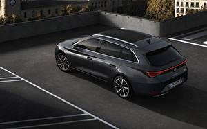 Images Seat Estate car Black Metallic Leon ST, 2020