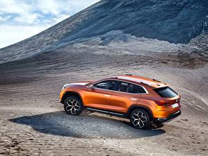 Hintergrundbilder Seat Gebirge Orange Seitlich 2015 Concept 20V20 auto