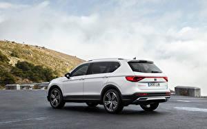Fotos Seat Crossover Weiß Metallisch Hybrid Autos Tarraco eHybrid, Worldwide, 2021 automobil