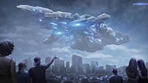 Pictures Ships Aliens Fantasy Space Cities