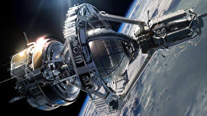 Wallpapers Ship Surface of planets Ender's Game Orson Scott Card sci-fi spaceship Fantasy Space