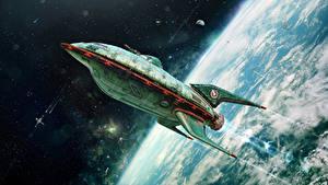 Fotos Schiffe Oberfläche des Planeten Futurama Starten Kosmos
