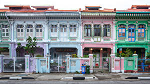 Fotos Singapur Gebäude Stadtstraße Design Zaun Katong Städte
