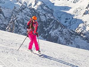 Bilder Skisport Schnee Uniform Mädchens