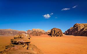 Fotos Himmel Wüste Gebirge Sand Wadi Rum Village, Jordan