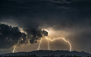 Fotos Himmel Naturkraft Gewitterwolke Blitz Natur