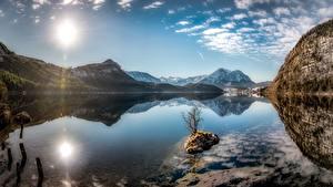 Bilder Himmel See Berg Österreich Landschaftsfotografie Spiegelt Sonne Styrian Lake, Altaussee