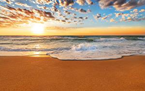 Hintergrundbilder Himmel Sonnenaufgänge und Sonnenuntergänge Meer Ozean Sonne Strände Wolke Natur