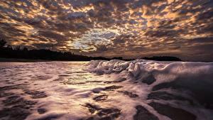 Desktop hintergrundbilder Himmel Wasserwelle Meer Wolke Schaum Natur