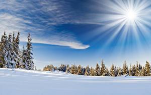 Hintergrundbilder Himmel Winter Sonne Schnee Lichtstrahl