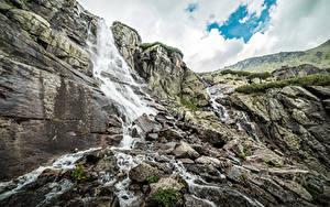Bilder Slowakei Wasserfall Stein Berg Felsen Waterfall Skok, Tatra mountains