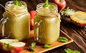 Bilder Smoothie Äpfel 2 Becher