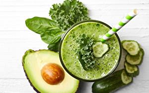 Bilder Smoothie Avocado Gurke Gemüse