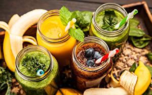 Bilder Smoothie Gemüse Obst Weckglas Lebensmittel