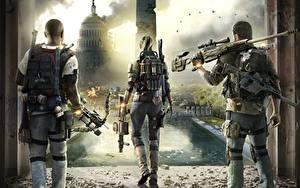 Bilder Scharfschützengewehr Soldaten Tom Clancy Hinten Scharfschütze The Division 2 Spiele