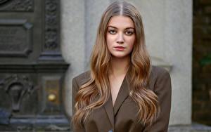 Desktop hintergrundbilder Model Haar Starren Sophie junge Frauen