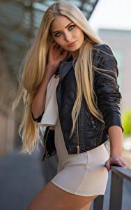 Bilder Blond Mädchen Pose Blick Kleid Jacke Soraya, Miss Germany 2017