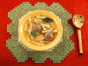 Bilder Suppe Tischdecke Kartoffel Löffel