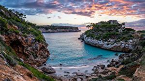 Bilder Spanien Küste Mallorca Meer Felsen Wolke Natur