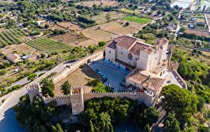 Fotos Spanien Mallorca Kloster Gebäude Zaun Von oben Sant Salvador Städte