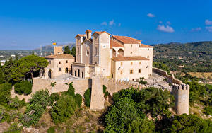 Fotos Spanien Mallorca Kloster Gebäude Zaun Sant Salvador Städte