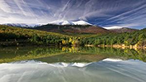 Fotos Spanien Gebirge See Wald Navarra Natur
