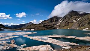 Bakgrunnsbilder Spania Fjell Innsjø Skyer Lake Baiau