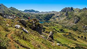 Hintergrundbilder Spanien Berg See Stein Ein Tal Somiedo Natur