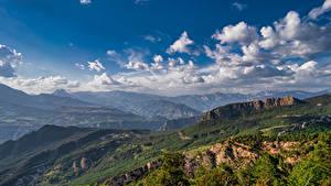Bilder Spanien Berg Landschaftsfotografie Himmel Wolke La Nou, Catalonia