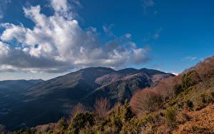 Hintergrundbilder Spanien Berg Himmel Wolke Bäume Catalonia