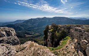 Hintergrundbilder Spanien Berg Himmel Felsen Catalonia
