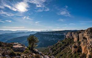 Fotos Spanien Gebirge Himmel Felsen Catalonia