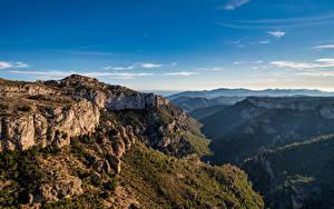 Hintergrundbilder Spanien Berg Himmel Felsen Ein Tal Catalonia